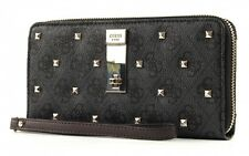 Guess nissana Rec large ZIP around monedero clutch Coal gris
