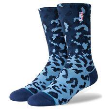 Postura para Hombre Calcetines baloncesto de la NBA de Leopardo Logoman Azul