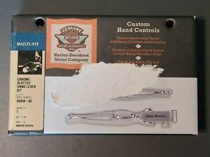 Harley-Davidson Chrome Slotted Hand Lever Kit 45459-02
