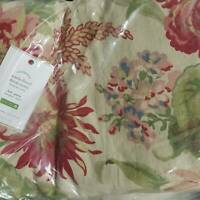 Pottery Barn MARLA FLORAL PRINT COTTON DUVET COVER Full Queen & 1 sham