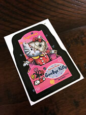 2005 topps WACKY PACKAGES GOODBYE KITTY promo card hello kitty spoof DECAL