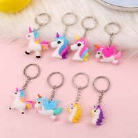 Cartoon Unicorn Pendant Keychain Car Keyring Bag Women Handbag Hanging Decor