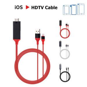 2m 1080P Apple iOS vers HDMI TV AV Câble Adaptateur pour iPad iPhone 6 7 8 X XS