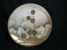 "RS Reinhold Schlegelmilch Tillowitz Germany Hand Painted 8"" Plate - Gold Floral"