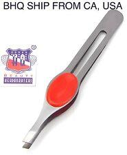 Stainless Steel Slant Tip Tweezer (Red)