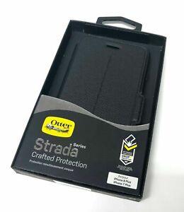 Otterbox Strada Slim Folio Phone Case for Apple iPhone 7 Plus/8 Plus Onyx Black