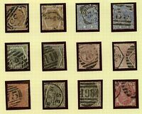 GB  QV range of surface printed issues to include shades and plates cv£10 Stamps