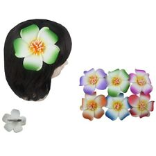 "Lot of 12 Hawaiian flower hair clip  accent Bridal Wedding Party Foam Flower 4"""