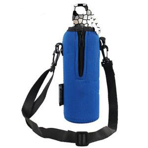 750ML Sports Water Bottle Bag Case Pouch Carrier Cover Adjustable Strap Buc JQJ