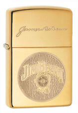 Zippo Lighter ⁕ Jim Beam Brass High Polished ⁕ 60003913 ⁕ Neu New OVP ⁕ A1113