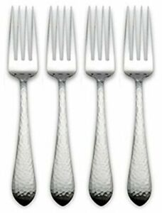 Reed & Barton Hammered Antique 18/10 Stainless Place / Dinner Fork (Set of Four)