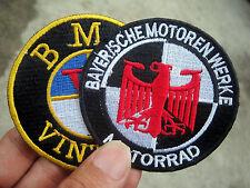 2X BMW PATCH VINTAGE BAYERISCHE MOTOREN WERKE MOTORRAD R 51 25 27 32 BOXER 26