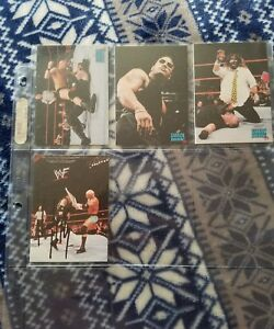 3 WWF SMACKDOWN 1999 PROMO CARDS  ROCK STONE COLD STEVE AUSTIN MANKIND FOLEY