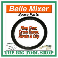 BELLE MIXER RING GEAR MINIMIX 130 C/W DRUM COVER, RIVETS+CLIP *1ST CLASS POST*