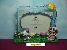 BABY BETTY BOOP PICTURE FRAME GARDEN DESIGN W6893 (RETIRED ITEM)