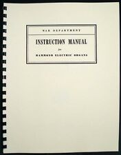 Hammond Electric Organ Model G Army Manual