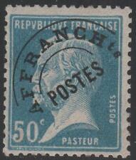 "FRANCE STAMP TIMBRE PREOBLIERE  N 68  "" TYPE PASTEUR 50c BLEU "" NEUF xx TB J117"