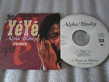 CD-ALPHA BLONDY-YEYE-PEACE IN LIBERIA-REGGAE-NUIT DE CHINE(CD SINGLE)1992-2TRACK