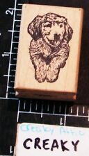 Laying Dog Rubber Stamp Magenta
