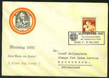 AUSTRIA 1937 MOTHER'S DAY FIRST DAY COVER
