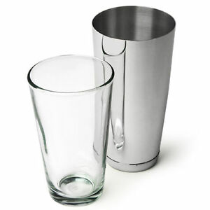 Professional Boston Cocktail Shaker - Glass and Tin Set Bar Pub Drink Party