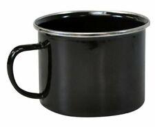 1 X Set tazze da Smalto Nero TIN Campeggio Picnic Tè Zuppa Tazza di metallo Bere olmug