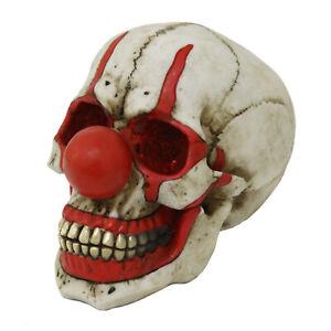 Clown Skull Figurine Statue Skeleton Halloween