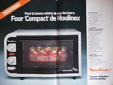 PUBLICITÉ DE PRESSE 1978 - FOUR COMPACT DE MOULINEX - ADVERTISING