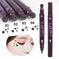 Double-Head Waterproof Liquid Eyeliner Tattoo Stamp Pencil Nice Make Liner J8J7