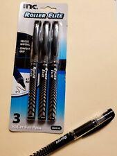 3-   ROLLER BALL ELITE INC. BLACK INK PEN O.7MM COMFORT GRIP CONTROLLED FLO