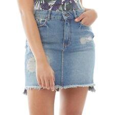 Superdry Femmes Jeans Mini Jupe avec Délavé Finition Délavé