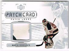 2001-02 01-02 UPPER DECK UD PATCH CARD LOGOS SERIES II #PL-MB MARTIN BRODEUR !!