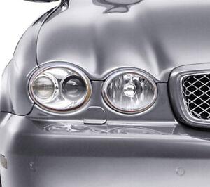 Jaguar X Type 2008 Upwards Chrome Headlight Surrounds Trim