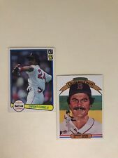 (2 Card Lot) 1982 Donruss #109, 7 Dwight Evans Red Sox
