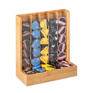 Kapselhalter für Cafissimo, Kapselspender, Kapselbehälter, Kapselständer Bambus