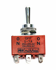 1pc S-7A S7A Toggle Switch On/Off/On 6P DPDT 20A125V 10A250V NKK Nikkai Japan