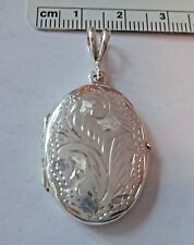 Sterling Silver 40x20 mm 6 gram Oval 2 Picture Photo Locket Charm!