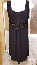 CACHET LADIES BEAUTIFUL BEADED BLACK DRESS - SIZE 20W