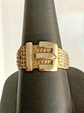 Excellent Vintage Solid 9ct Gold Buckle Ring Lovely Fully Hallmarked Example 5g