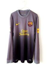 Camiseta Barcelona GK Portero 2012. pequeño Adultos. Fútbol Nike. Gris Superior sólo S