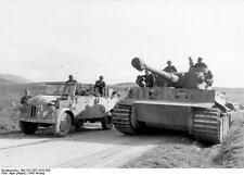 German Army Panzer Tank, Car & Troops Tunisia World War 2 Reprint Photo 6x4 Inch