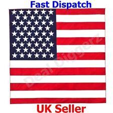 Cotton USA bandera Pañuelo Cabeza Cuello Bufanda de banda de envoltura corbata de desgaste Reino Unido