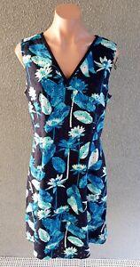 ❤️ ADRIANNA PAPELL Cotton Sleeveless A-Line Dress Size 14 Buy7=FreePost L840