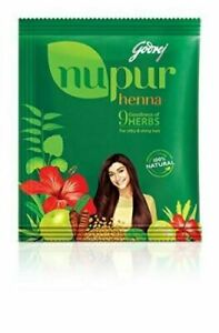 GODREJ Nupur Henna Mehndi Mehandi Herbal Hair Color Colour Hair Dye Powder.