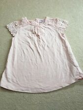 GIRLS 12-18 MONTHS LACE DETAIL ON SHORT SLEEVES PINK S/NK