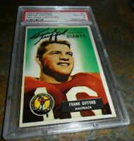1955 Bowman Football #7 Frank Gifford Signed AUTO NEW YORK Giants PSA/DNA