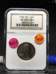 1967 Washington Quarter, MS68 Cameo, Certified, 8655