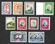 Latvia 1931 Tuberculosis issue … REVERSE WATERMARK … Mi.180-189 … MH * … READ >>