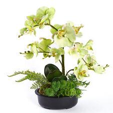 Artificial Butterfly Orchid Silk Fake Flowers Bonsai w/ Pot Home Wedding Decor