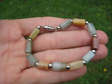 Natural Jade bead  stone bracelet Thailand jewelry art